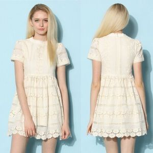 Darling Lace Dolly Dress in Ivory